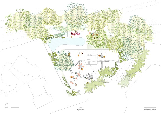 Langarita-Navarro arquitectos_Casa Baladrar_04_PLANTA ACCESO